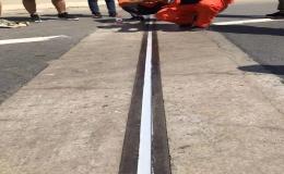 液体止水带应用于平川公路的修补